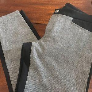 BANANA REPUBLIC Black/gray 6 P Sloan Pants.     M